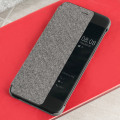 Official Huawei P10 Plus Smart View Flip Case - Light Grey