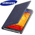 Official Samsung Galaxy Note 3 Flip Wallet Cover - Indigo Blue