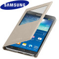 Official Samsung Galaxy Note 3 S-View Premium Cover Case - Oatmeal