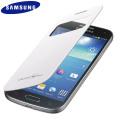 Official Samsung Galaxy S4 Mini S-View Premium Cover Case - White