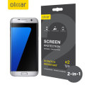 Olixar Full Cover Samsung Galaxy S7 Edge Screen Protector 2-in-1 Pack