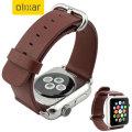 Olixar Genuine Leather Apple Watch Series 2 / 1 Strap - 42mm - Brown