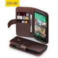 Olixar HTC One M8 Genuine Leather Wallet Case - Brown