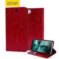 Olixar Leather-Style iPhone 6S / 6 Wallet Stand Case - Red