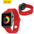Olixar Silicone Rubber Apple Watch 2 / 1 Sport Strap - 42mm - Red