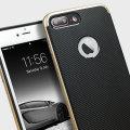 Olixar X-Duo iPhone 7 Plus Case - Carbon Fibre Gold