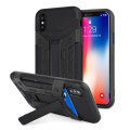 Olixar X-Trex iPhone 8 Rugged Card Kickstand Case - Black