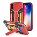 Olixar X-Trex iPhone 8 Rugged Card Kickstand Case - Red / Gold