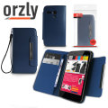 Orzly Leather Style Wallet Case for Moto G - Blue