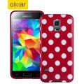 Polka Dot FlexiShield Samsung Galaxy S5 Mini Gel Case - Red