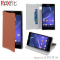 Roxfit Book Flip Case for Sony Xperia Z2 - Dark Tan