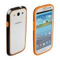Samsung Galaxy S3 Rubber Bumper - Orange / Black