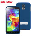 Seidio SURFACE Samsung Galaxy S5 Case with Metal Kickstand - Blue
