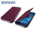 Sonivo Slim Wallet Case with Sensor for Samsung Galaxy S4 - Purple