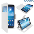Sonivo Sneak Peek Flip Case for Samsung Galaxy Mega 6.3 - White