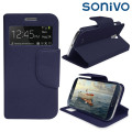 Sonivo Sneak Peek Flip Case for Samsung Galaxy S4 - Blue