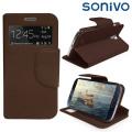 Sonivo Sneak Peek Flip Case for Samsung Galaxy S4 - Brown