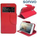 Sonivo Sneak Peek Flip Case for Samsung Galaxy S4 - Red
