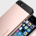 Spigen Slim Armor iPhone SE Tough Case - Rose Gold