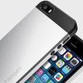 Spigen Slim Armor iPhone SE Tough Case - Silver