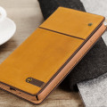 STIL Toscano Wine Genuine Leather iPhone 7 Plus Wallet Case - Camel