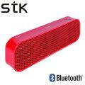 STK Portable Bluetooth Stereo Speaker - Red