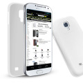 Super Slim Gel Case for Samsung Galaxy S4 - White