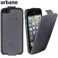 Urbano Genuine Leather Flip Case for iPhone 5S / 5 - Grey Vintage