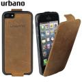 Urbano Genuine Leather Flip Case for iPhone 5S / 5 - Vintage