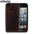 Urbano Genuine Leather Slim Case for iPhone 5S / 5 - Chocolate Vintage
