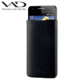 VAD Superior Leather Soft Pouch L for Smartphones - Black
