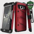 Zizo Bolt Series Samsung Galaxy Note 7 Tough Case & Belt Clip - Red