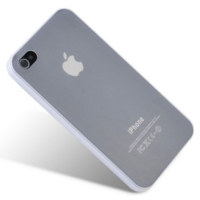 Ultra thin protective case for iPhone 4S - White