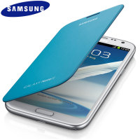 Genuine Samsung Galaxy Note 2 Flip Cover - Blue - EFC-1J9FBEGSTD