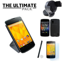 The Ultimate Google Nexus 4 Accessory Pack - Black