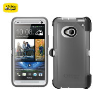 Otterbox Defender Series for HTC One - White/Silver