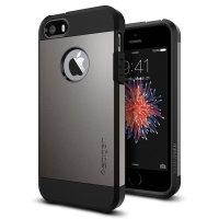 Spigen Tough Armor iPhone 5S / 5 Hülle Metal Slate