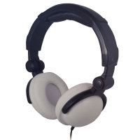 BITnSound On-Ear Headphones with Microphone - White Edition
