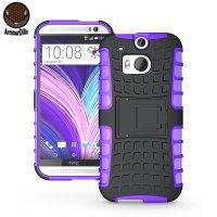 ArmourDillo HTC One M8 用ハイブリッド保護ケース(パープル)