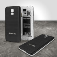 Replacement Aluminium Metal Samsung Galaxy S5 Back Cover - Black