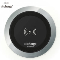 B2B aircharge Desk Qi Wireless Surface Charger - Aluminium
