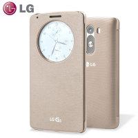 Bolsa Oficial QuickCircle Snap On para LG G3 - Ouro Brilhante
