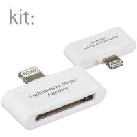 Kit: Adapatdor Lightning a 30-pines para dispositivos Apple - Blanco