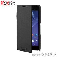 Roxfit Sony Xperia M4 Aqua Slim Book Case - Black