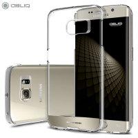 Coque Samsung Galaxy S6 Edge Obliq - Transparent / Or