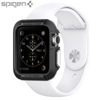 Robuste Spigen Armor Apple Watch Series 3 / 2 / 1 Hülle (42mm) Schwarz