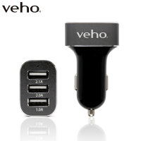 Veho VAA-010 Triple USB Car Charger - 5.1A
