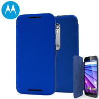 Custodia flip originale Motorola per Moto G 2015 - Blu