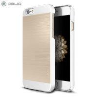Obliq Slim Meta II Series iPhone 6S / 6 Case - White / Champagne Gold