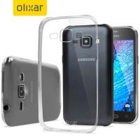 Olixar FlexiShield Ultra-Thin Samsung Galaxy J1 2015 Gel Case - Clear